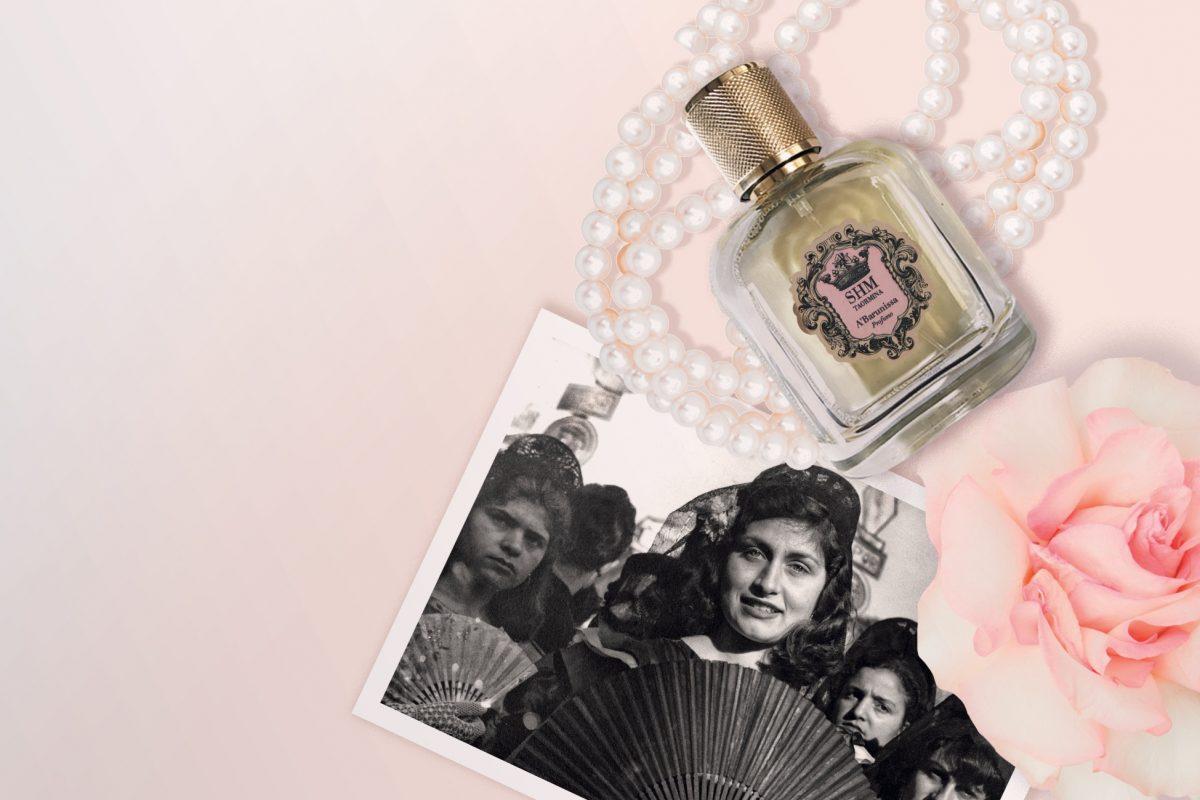 Il profumo A'Barunissa, ideato da Alessandra Catalbiano. È un omaggio ad un donna siciliana dalla pelle profumata di rosa bulgara e cannella, dai folti capelli corvini.